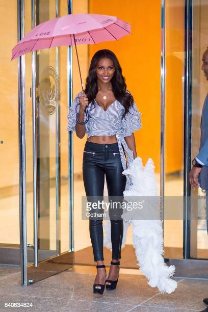 Model Jasmine Tookes is seen going to fittings for the 2017 Victoria's Secret Fashion Show in Midtown on August 29 2017 in New York City