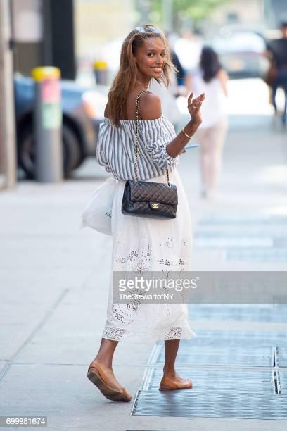 Model Jasmine Tookes is seen in Chelsea on June 22 2017 in New York City