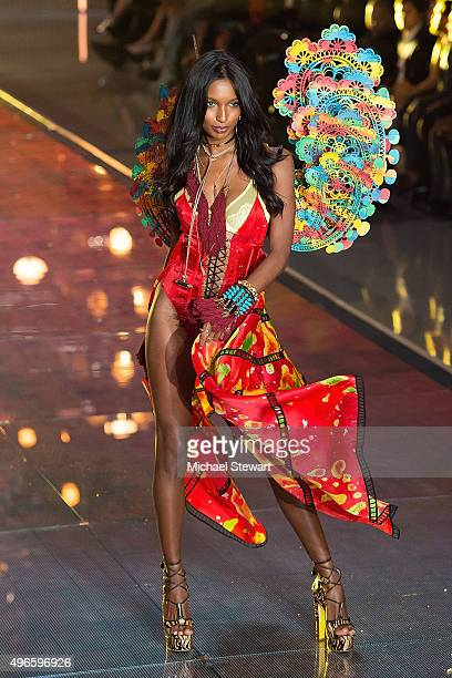 Model Jasmine Tookes walks the runway during the 2015 Victoria's Secret Fashion Show at the Lexington Armory on November 10 2015 in New York City