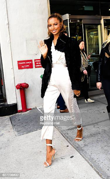 Model Jasmine Tooks is seen in Midtown on December 2 2016 in New York City