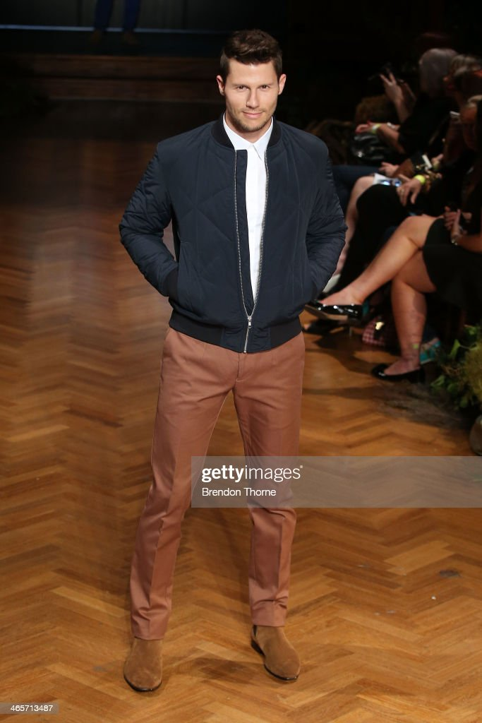 Model, Jason Dundas during rehearsal for the David Jones A/W 2014 Collection Launch at the David Jones Elizabeth Street Store on January 29, 2014 in Sydney, Australia.