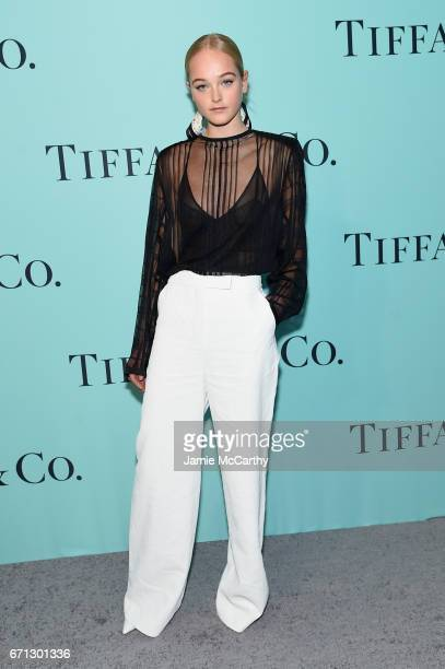 Model Jean Campbell attends the Tiffany Co 2017 Blue Book Collection Gala at ST Ann's Warehouse on April 21 2017 in New York City