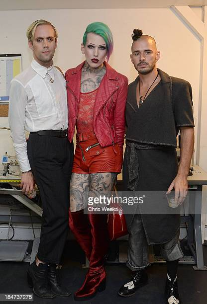 Model Jeffree Star and guests attend the Ashton Michael Spring 2014 Collection show on October 15 2013 in Hollywood California