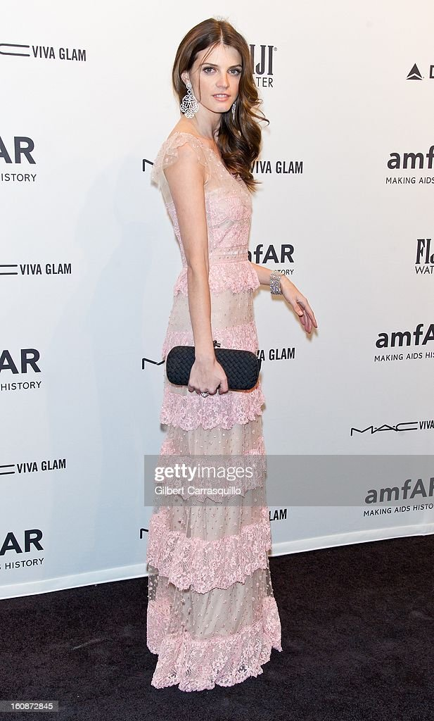 Model Jeisa Chiminazzo attends amfAR New York Gala To Kick Off Fall 2013 Fashion Week at Cipriani, Wall Street on February 6, 2013 in New York City.