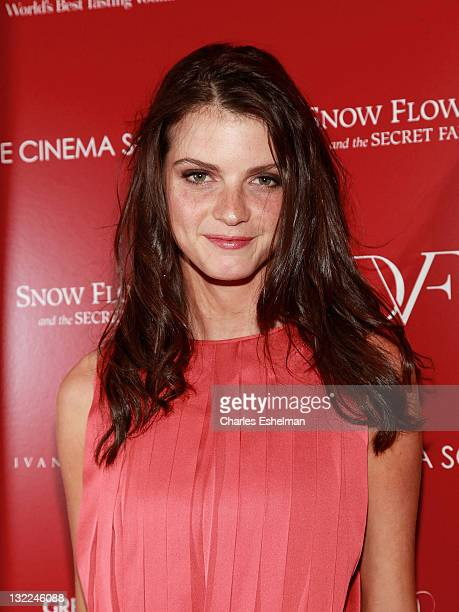 Model Jeisa Chiminazzo attends The Cinema Society with Ivanka Trump Jewelry Diane Von Furstenberg screening of 'Snow Flower And The Secret Fan' at...
