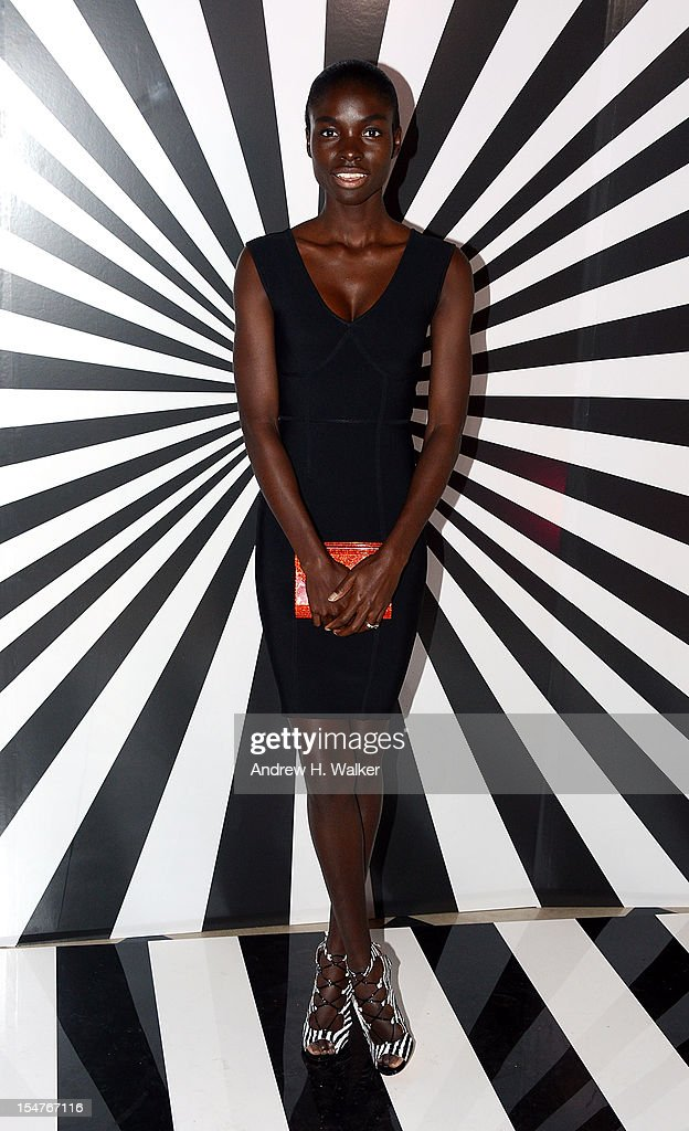 Model Jeneil Williams attends the Jimmy Choo and Rob Pruitt Collection Launch on October 25, 2012 in New York City.