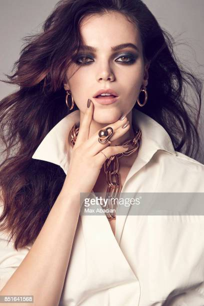 A Model is photographed for Fashion Magazine on February 28 2017 in Montreal Quebec