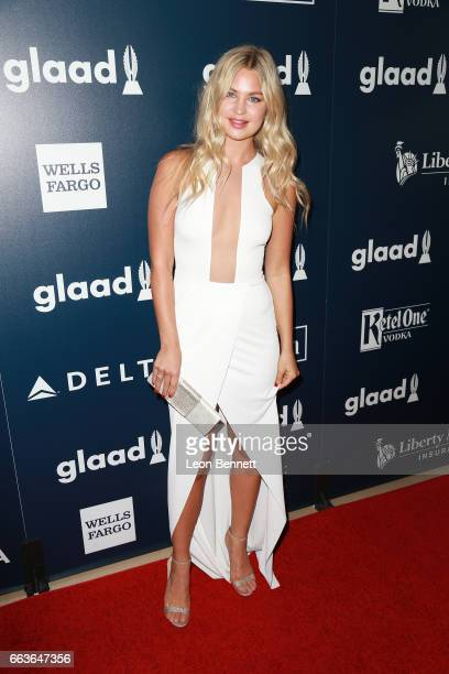 Model Jennifer Akerman attends the 28th Annual GLAAD Media Awards at The Beverly Hilton Hotel on April 1 2017 in Beverly Hills California