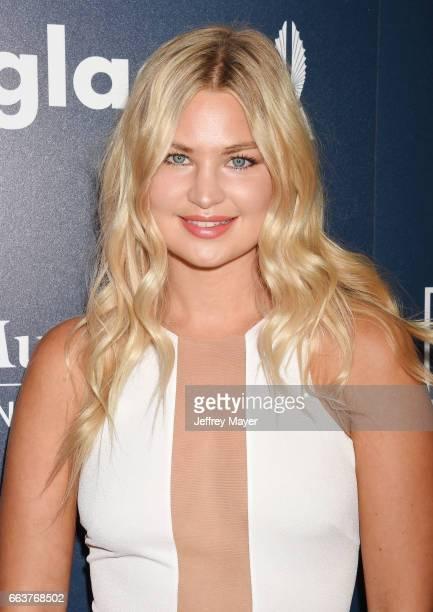 Model Jennifer Akerman attends the 28th Annual GLAAD Media Awards in LA at The Beverly Hilton Hotel on April 1 2017 in Beverly Hills California