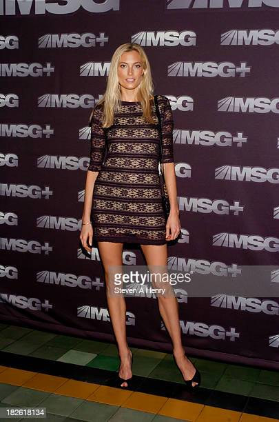 Model Jennifer Ohlsson attends the 2013 2014 NHL NBA Season Kick Off MSG Networks' Celebration at Penthouse at the Park on October 1 2013 in New York...