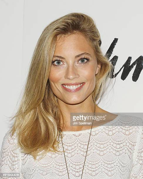 Model Jennifer Olson attends the screening of IFC Films' Asthma hosted by The Cinema Society and Northwest at the The Roxy Hotel on October 8 2015 in...