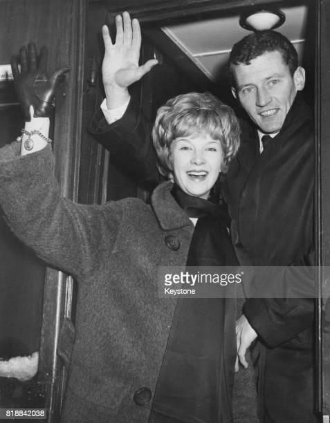 Model Jenny Lejeune and her husband Australian author Hugh Edwards leave London for Australia from Waterloo station 2nd January 1962