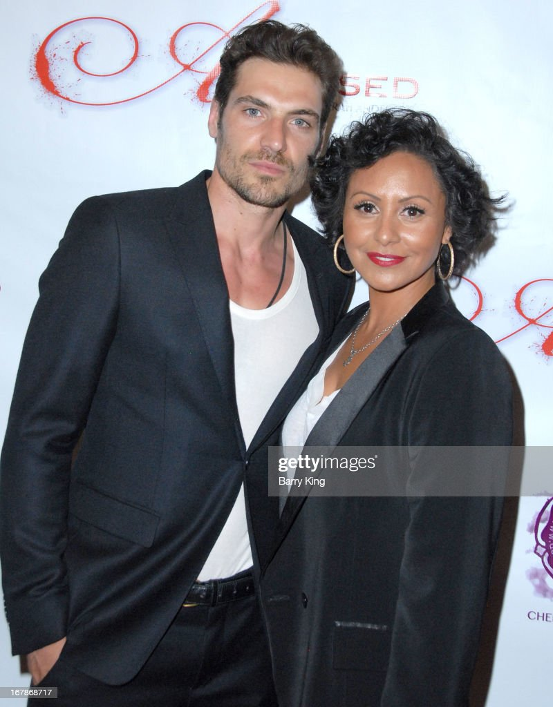 Model Jerome Adamoli (L) and director Deborah Anderson attend the 'Aroused' - Los Angeles Premiere on May 1, 2013 at the Landmark Nuart Theatre in Los Angeles, California.