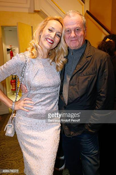 Model Jerry Hall and Jacques Grange attend the 'Loulou de la Falaise' book signing Held at the Fondation 'Pierre Berge Yves Saint Laurent' on...