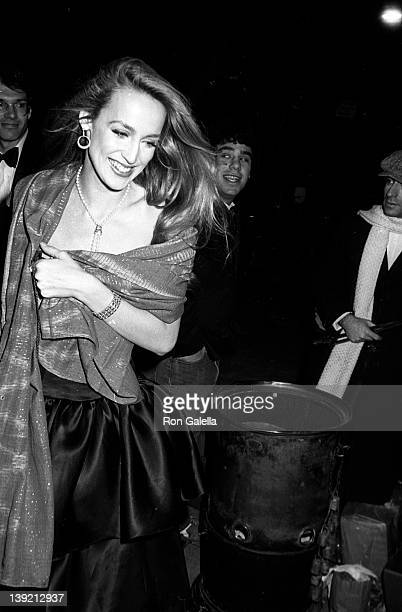 Model Jerry Hall attends Woody Allen's New Year's Eve Party on December 31 1979 at Harkness House in New York City