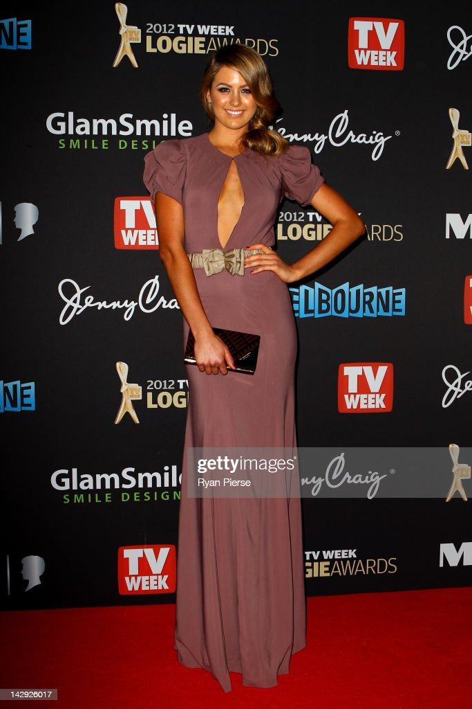 Model Jesinta Campbell arrives at the 2012 Logie Awards at the Crown Palladium on April 15, 2012 in Melbourne, Australia.