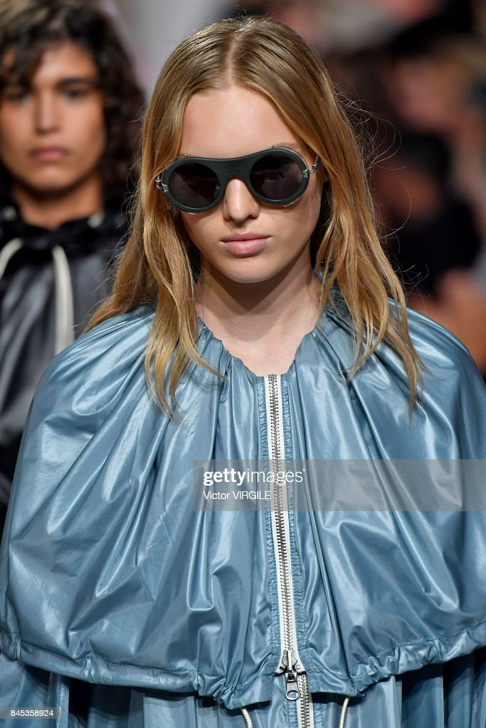 Model Jess PW walks the runway for Calvin Klein Collection Spring/Summer 2018 fashion show during New York Fashion Week on September 7, 2017 in New York City.