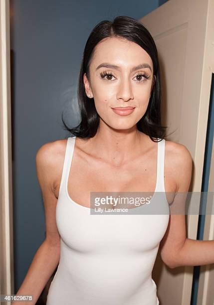Model Jessica Amaya ready for her shoot at Blaze Modelz Supports The Starving Artists Project Behind The Scenes on January 15 2015 in Los Angeles...