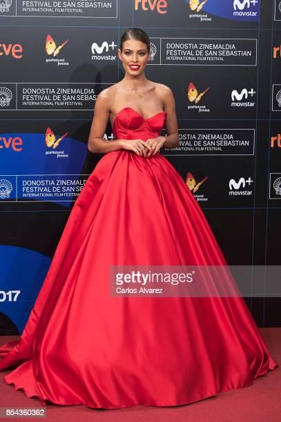 Model Jessica Goicoechea attends 'La Cordillera' premiere during the 65th San Sebastian International Film Festival on September 26 2017 in San...