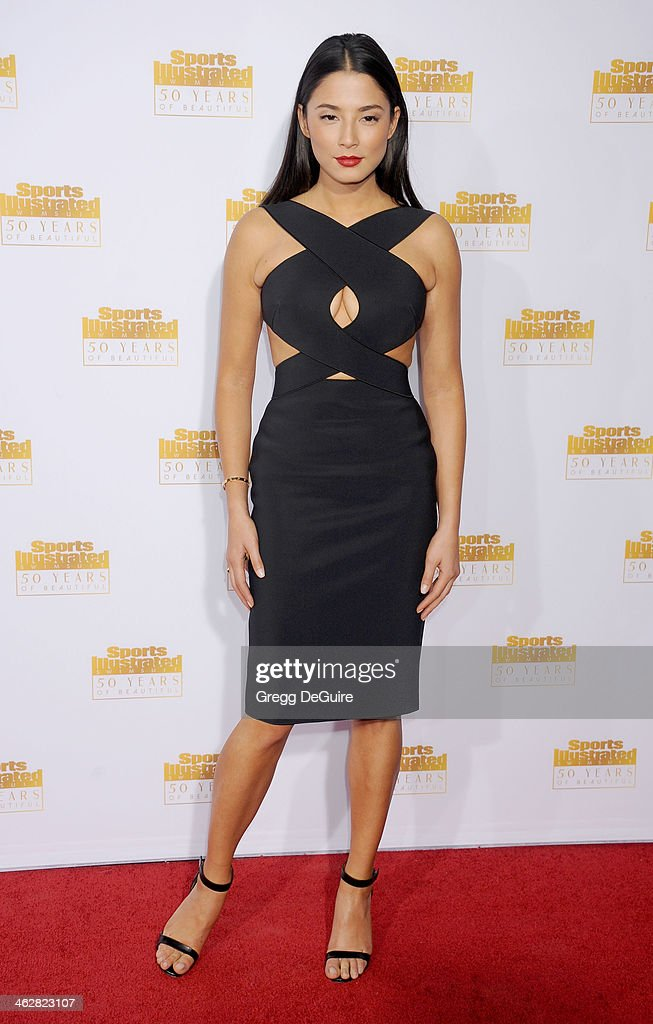 Model Jessica Gomes arrives at the 50th Anniversary Celebration Of Sports Illustrated Swimsuit Issue at Dolby Theatre on January 14, 2014 in Hollywood, California.