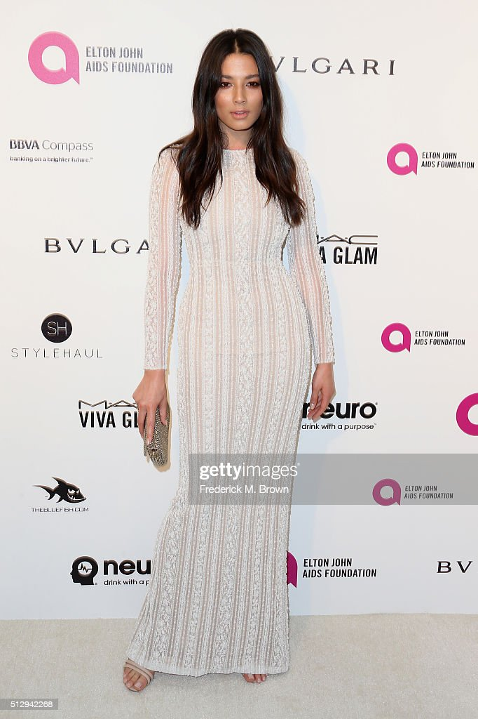 Model Jessica Gomes attends the 24th Annual Elton John AIDS Foundation's Oscar Viewing Party on February 28 2016 in West Hollywood California