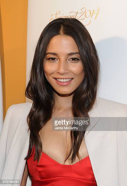 Model Jessica Gomes attends the Sports Illustrated Swimsuit 50 Years of Swim in NYC Celebration at the Sports Illustrated Swimsuit Beach House on...