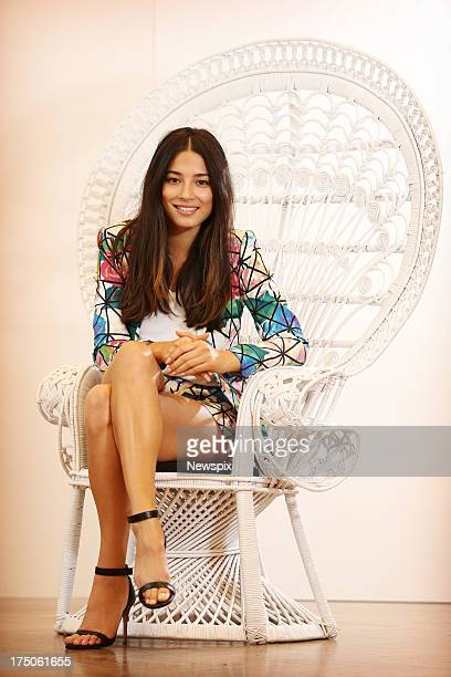 Model Jessica Gomes poses during a photo shoot at the David Jones store on July 30 2013 in Sydney Australia Gomes has been announced as the new face...