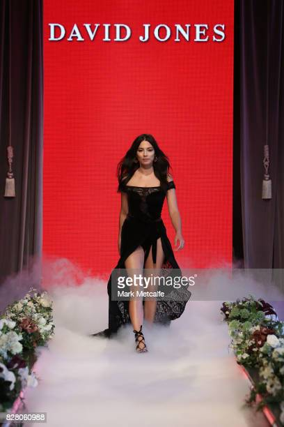 Model Jessica Gomes walks the runway in a design by Jets during rehearsal ahead of the David Jones Spring Summer 2017 Collections Launch at David...