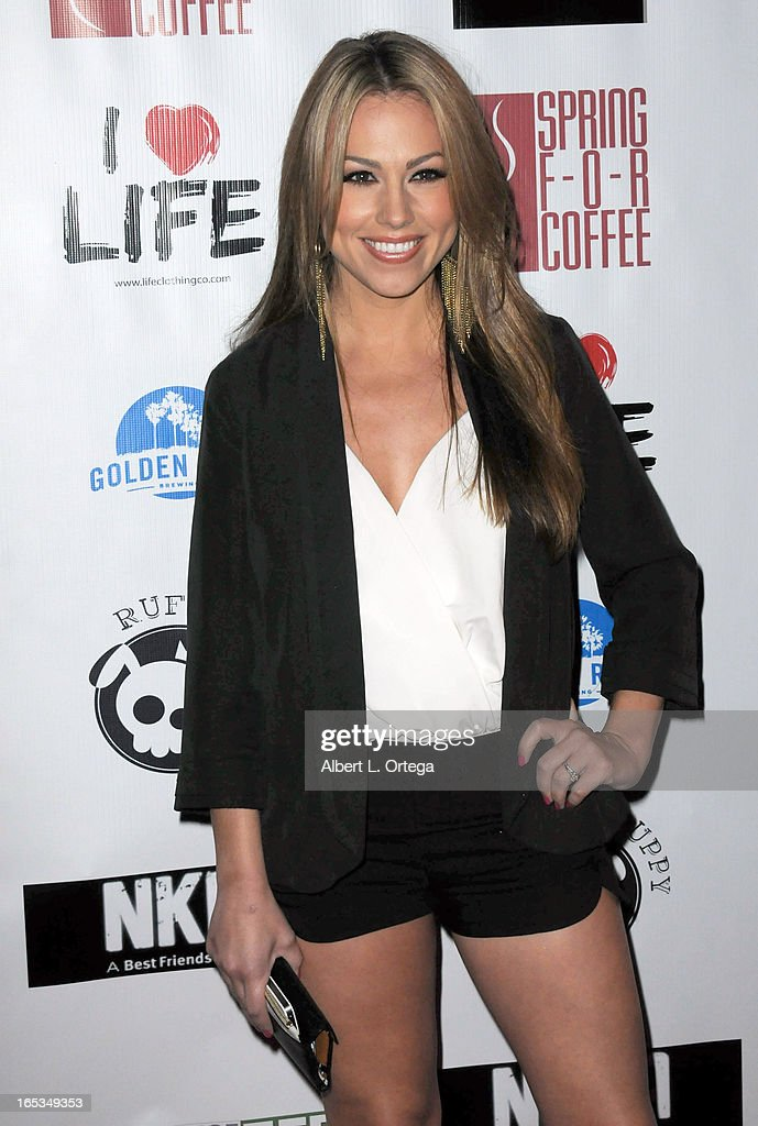 Model Jessica Hall arrives for the No Kill LA Charity Event held at Fred Segal on April 2, 2013 in West Hollywood, California.