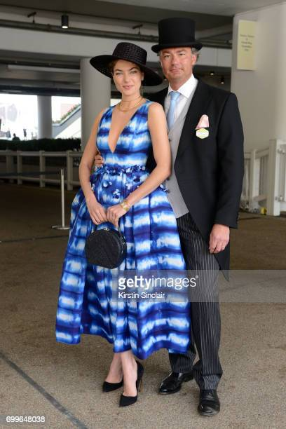 Model Jessica Hart and Laurent Feniou attend day 3 of Royal Ascot at Ascot Racecourse on June 22 2017 in Ascot England