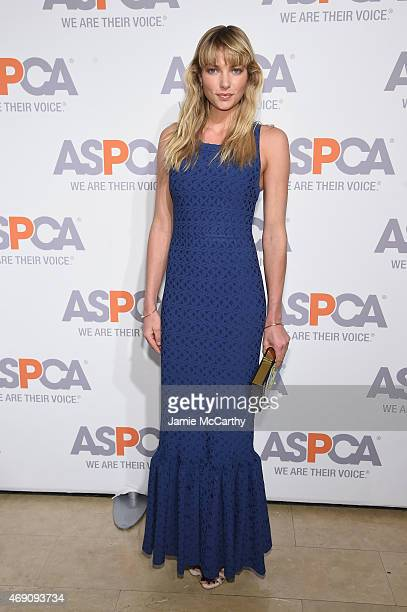 Model Jessica Hart attends ASPCA'S 18th Annual Bergh Ball honoring Edie Falco and Hilary Swank at The Plaza Hotel on April 9 2015 in New York City