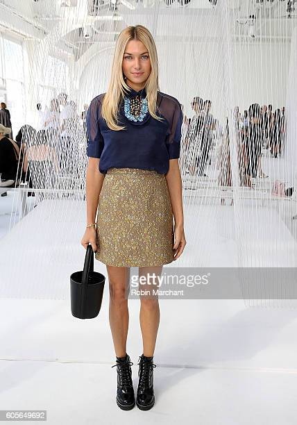 Model Jessica Hart attends Delpozo Front Row September 2016 during New York Fashion Week at Pier 59 Studios on September 14 2016 in New York City