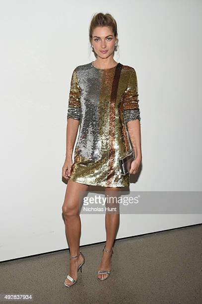 Model Jessica Hart attends God's Love We Deliver Golden Heart Awards at Spring Studio on October 15 2015 in New York City