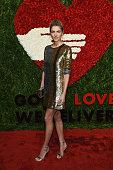 Model Jessica Hart attends God's Love We Deliver Golden Heart Awards at Spring Studio on October 15 2015 in New York City