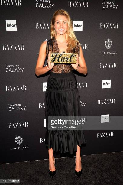 Model Jessica Hart attends Samsung GALAXY At Harper's BAZAAR Celebrates Icons By Carine Roitfeld at The Plaza Hotel on September 5 2014 in New York...