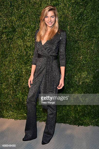 Model Jessica Hart attends the 11th annual CFDA/Vogue Fashion Fund Awards at Spring Studios on November 3 2014 in New York City