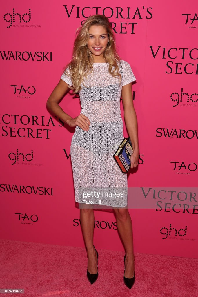 Model <a gi-track='captionPersonalityLinkClicked' href=/galleries/search?phrase=Jessica+Hart&family=editorial&specificpeople=4436555 ng-click='$event.stopPropagation()'>Jessica Hart</a> attends the after party for the 2013 Victoria's Secret Fashion Show at TAO Downtown on November 13, 2013 in New York City.
