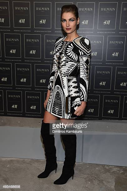Model Jessica Hart attends the BALMAIN X HM Collection Launch at 23 Wall Street on October 20 2015 in New York City