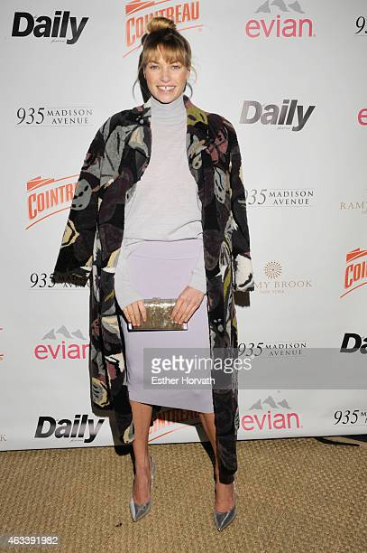 Model Jessica Hart attends The Daily Front Row's 2015 Model Issue reception during New York Fashion Week Fall 2015 at Beautique on February 13 2015...