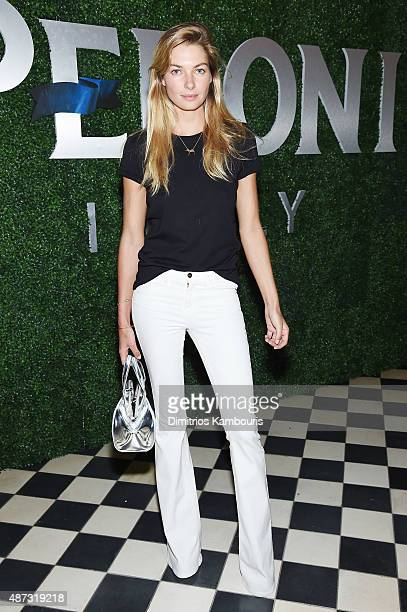 Model Jessica Hart attends the debut of Margherita Missoni and Peroni Nastro Azzurro's Fall fashion collaboration during New York Fashion Week on...