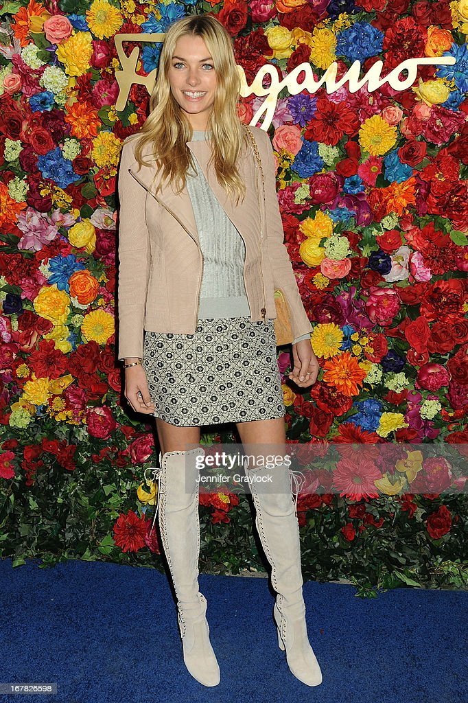 Model Jessica Hart attends the Ferragamo Celebrates The Launch Of L'Icona Highlighting The 35th Anniversary Of Vara at The McKittrick Hotel, Home of Sleep No More on April 30, 2013 in New York City.