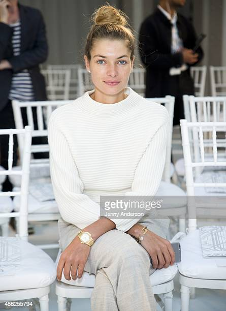 Model Jessica Hart attends the Gabriela Cadena fashion show during Spring 2016 New York Fashion Week The Shows at The New York Public Library on...