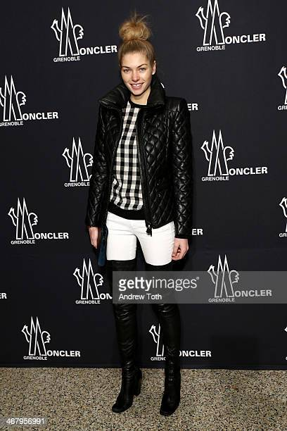 Model Jessica Hart attends the Moncler Grenoble Fall 2014 Presentation at the Hammerstein Ballroom on February 8 2014 in New York City
