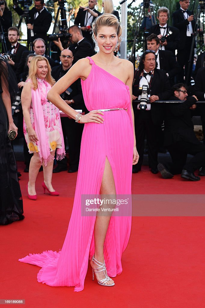 Model Jessica Hart attends the Premiere of 'Cleopatra' during the 66th Annual Cannes Film Festival at the Palais des Festivals on May 21, 2013 in Cannes, France.