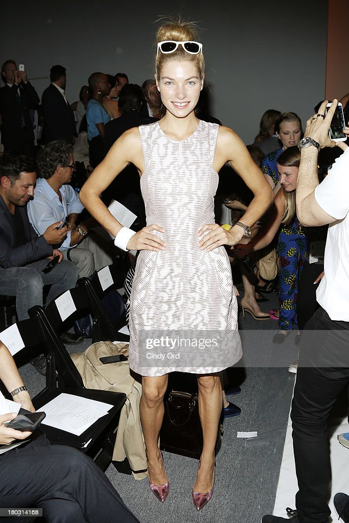 Model <a gi-track='captionPersonalityLinkClicked' href=/galleries/search?phrase=Jessica+Hart&family=editorial&specificpeople=4436555 ng-click='$event.stopPropagation()'>Jessica Hart</a> attends the Rachel Zoe fashion show during Mercedes-Benz Fashion Week Spring 2014 at The Studio at Lincoln Center on September 11, 2013 in New York City.
