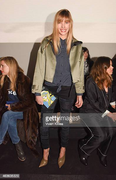 Model Jessica Hart attends the rag bone show during MercedesBenz Fashion Week Fall 2015 at Spring Studios on February 16 2015 in New York City