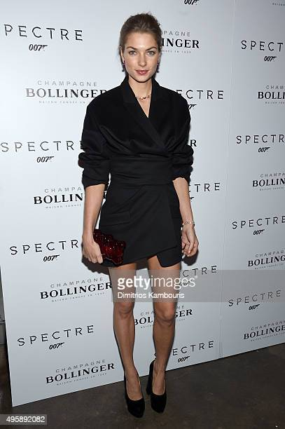 Model Jessica Hart attends the 'Spectre' prerelease screening hosted by Champagne Bollinger and The Cinema Society at the IFC Center on November 5...