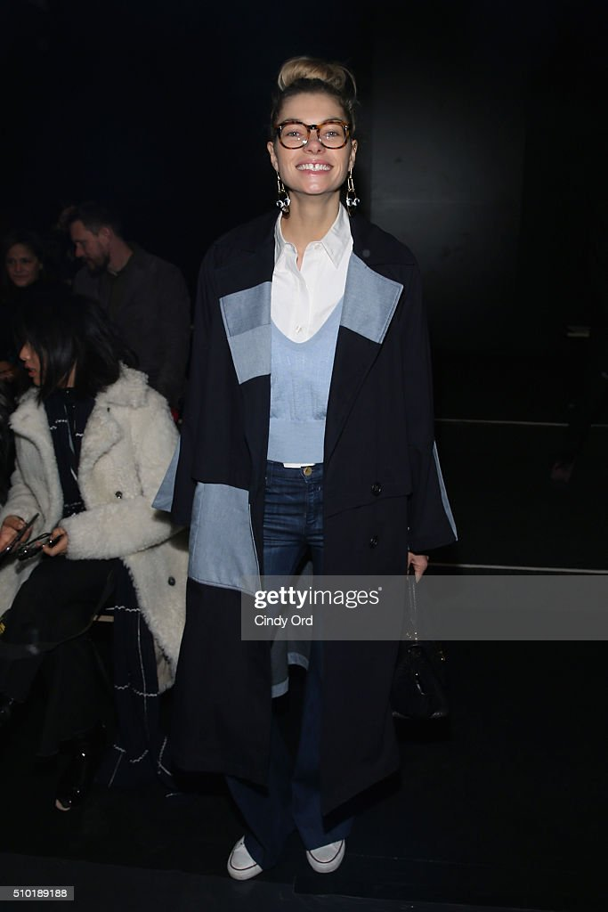 Model Jessica Hart attends the Tome Fall 2016 fashion show during New York Fashion Week: The Shows at The Dock, Skylight at Moynihan Station on February 14, 2016 in New York City.