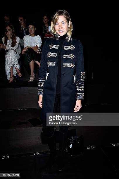 Model Jessica Hart attends the Valentino show as part of the Paris Fashion Week Womenswear Spring/Summer 2016 on October 6 2015 in Paris France