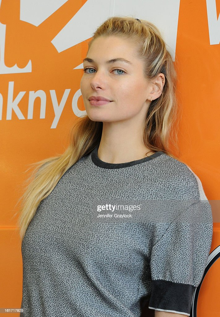 Model Jessica Hart unveils the Food Bank For New York City's Sprinter Van Donated By Mercedes-Benz Manhattan at the Mercedes-Benz 11th avenue on February 14, 2013 in New York City.